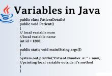 تصویر از آموزش متغیرهای جاوا
