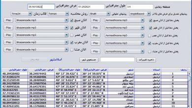 تصویر از تقویم اذان گو شهید سردار سپهبد حاج قاسم سلیمانی Java Swing